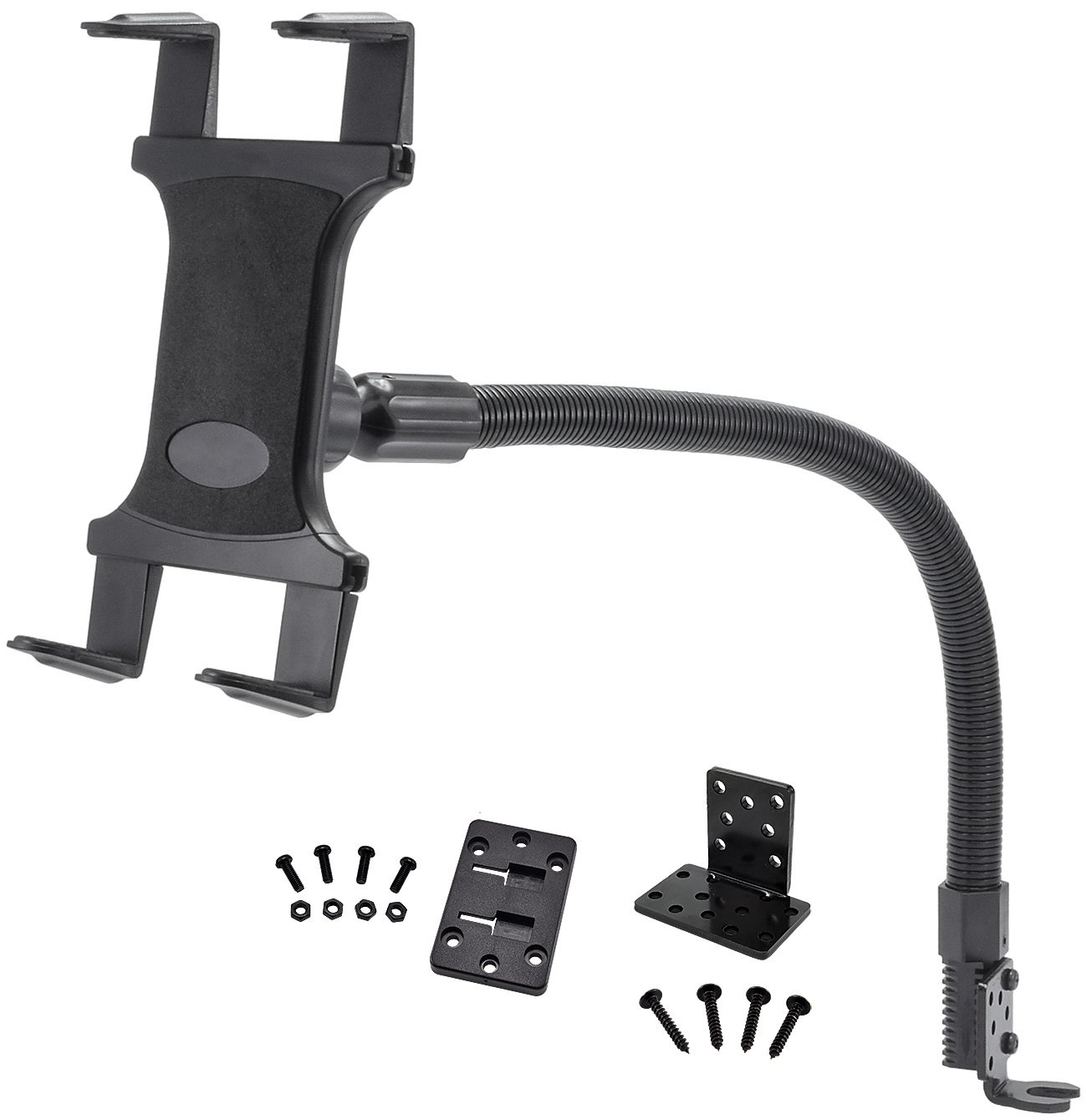 Tablet Mount for Car and Truck - TACKFORM [ELD Mount] Industrial 22 Inch Gooseneck Seat Rail Device Holder for Taxi, Van, Vehicle, Semi. Cradle for all devices including iPad, Galaxy, Surface Pro … by Tackform Solutions (Image #3)