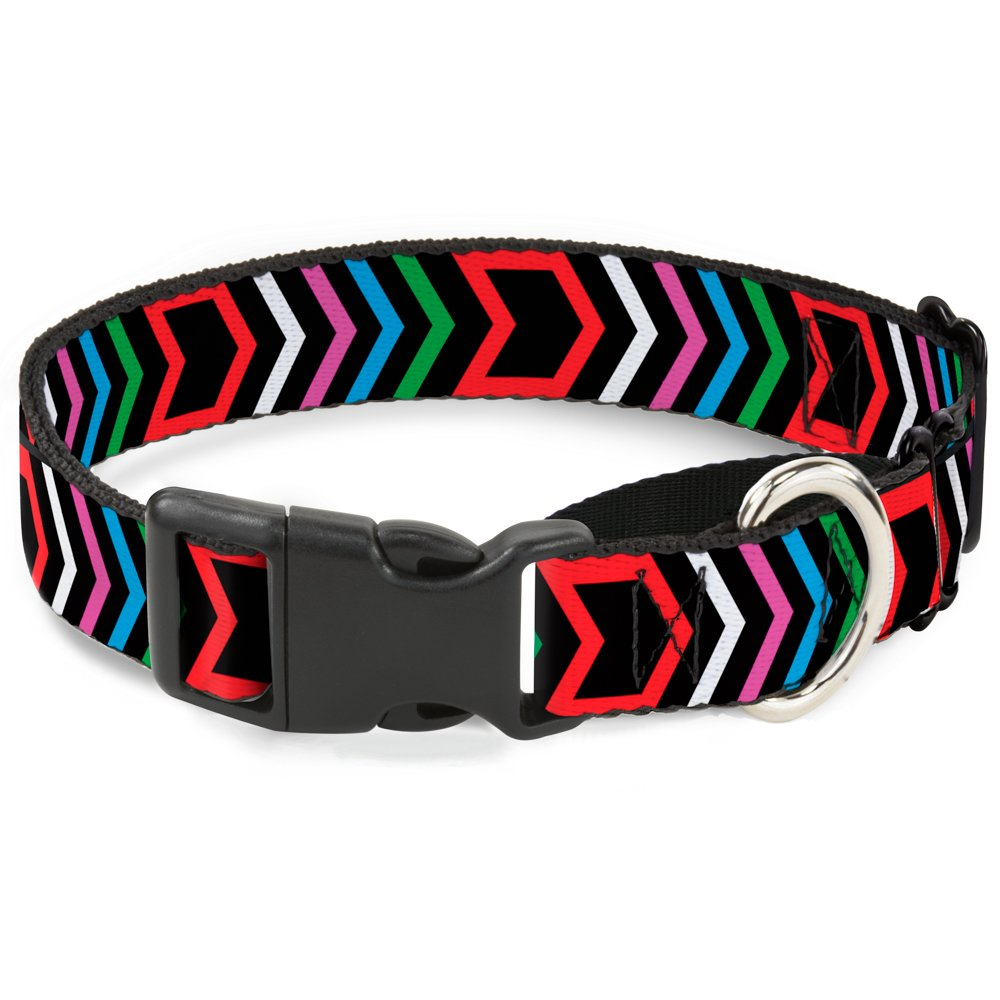 Buckle-Down Arrows Black Multi color Martingale Dog Collar, 1  Wide-Fits 15-26  Neck-Large