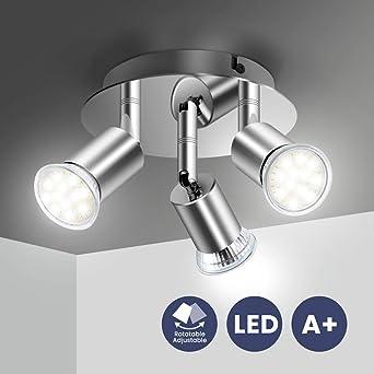 Spot Deckenleuchte in weiß Strahler beweglich GU10 Deckenlampe Licht Deckenspot