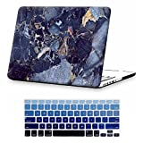 Macbook Retina 15 inch Case,iCasso Hard shell Plastic protective Case Cover for For Apple Laptop Macbook Pro 15 Inch with Retina Display (No CD-ROM) Model A1398 With Keyboard Cover (Blue Marble)