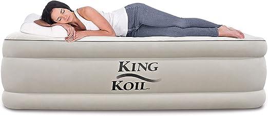 Amazon.com: King Koil - Colchón hinchable de lujo con bomba ...
