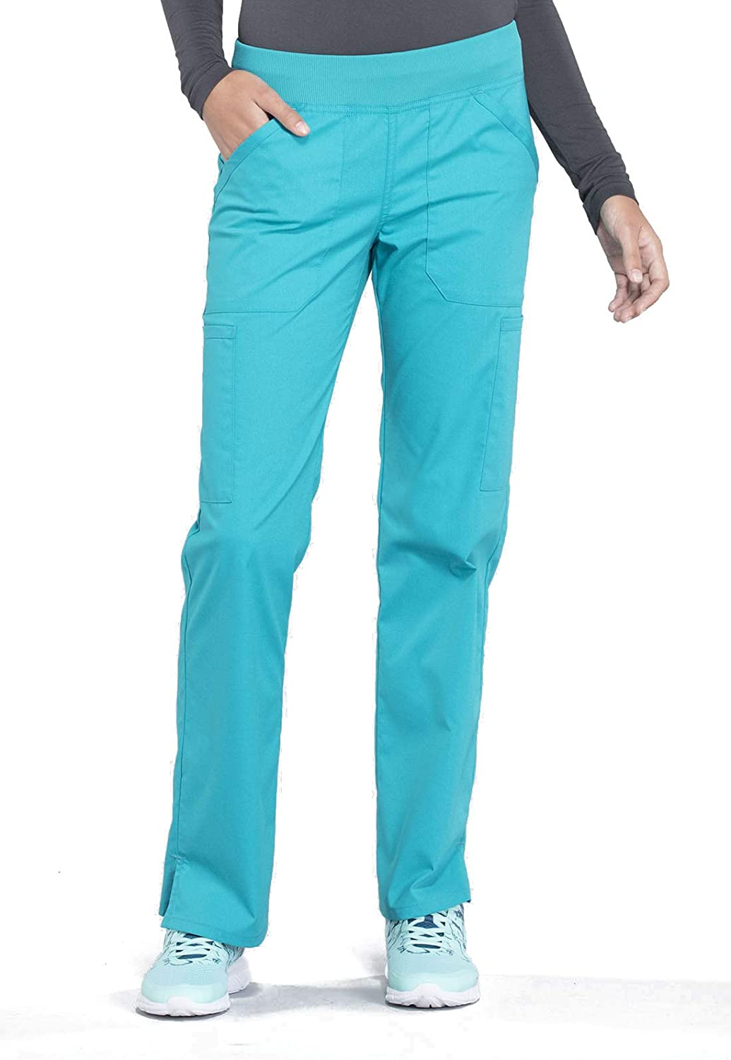 Cherokee Workwear Professionals Mid Rise Straight Leg Pull-on Cargo Scrub Pant