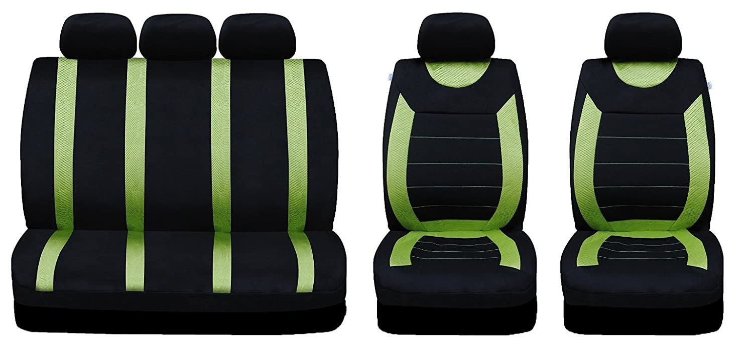 Matching Mat Set All Rover 9 PCE Sports Carnaby Green// Black CAR Seat Covers