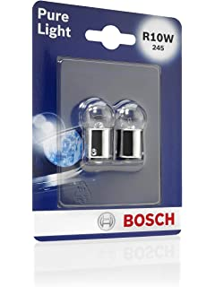 R10W Halogen Bulbs 2pcs BA15s 12V 10 W BOSCH Pure Light 1987301019