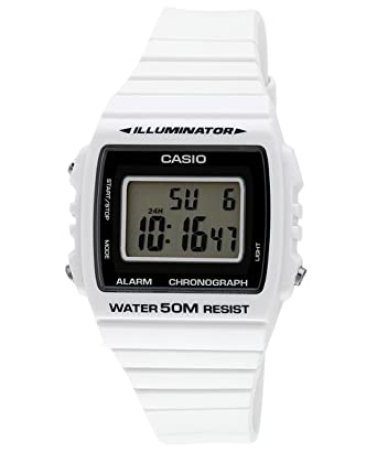 0b22d2d06d6 Relógio Masculino Casio Digital W-215H-7AVDF - Branco  Amazon.com.br ...