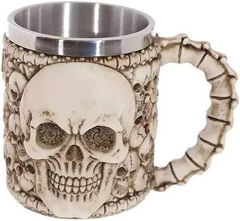 Tasse de crâne de café d/'acier inoxydable de Viking