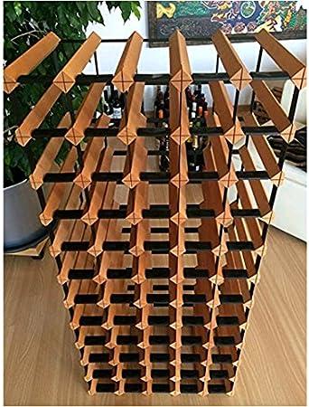 Z&HAO Gabinete De Madera del Vino del Almacenamiento del Hierro De La Madera Sólida Gabinete Clásico De Madera para Las Botellas - Tienda/Estante De La Vinoteca,110Bottle[Clase de eficiencia energética A]