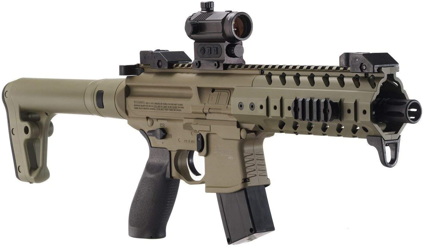 Sig Sauer MPX .177 Cal CO2 Powered SIG20R Red Dot Air Rifle