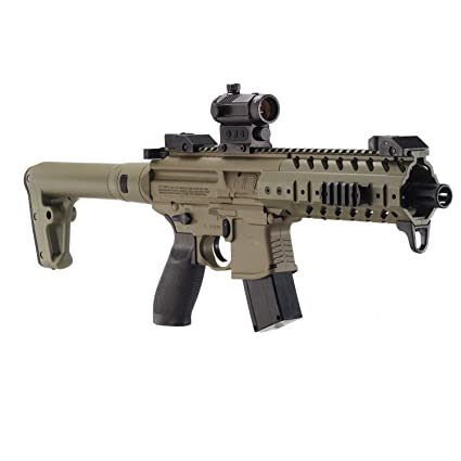 Sig Sauer MPX  177 Cal CO2 Powered SIG20R Red Dot Air Rifle 30 Rounds, Flat  Dark Earth