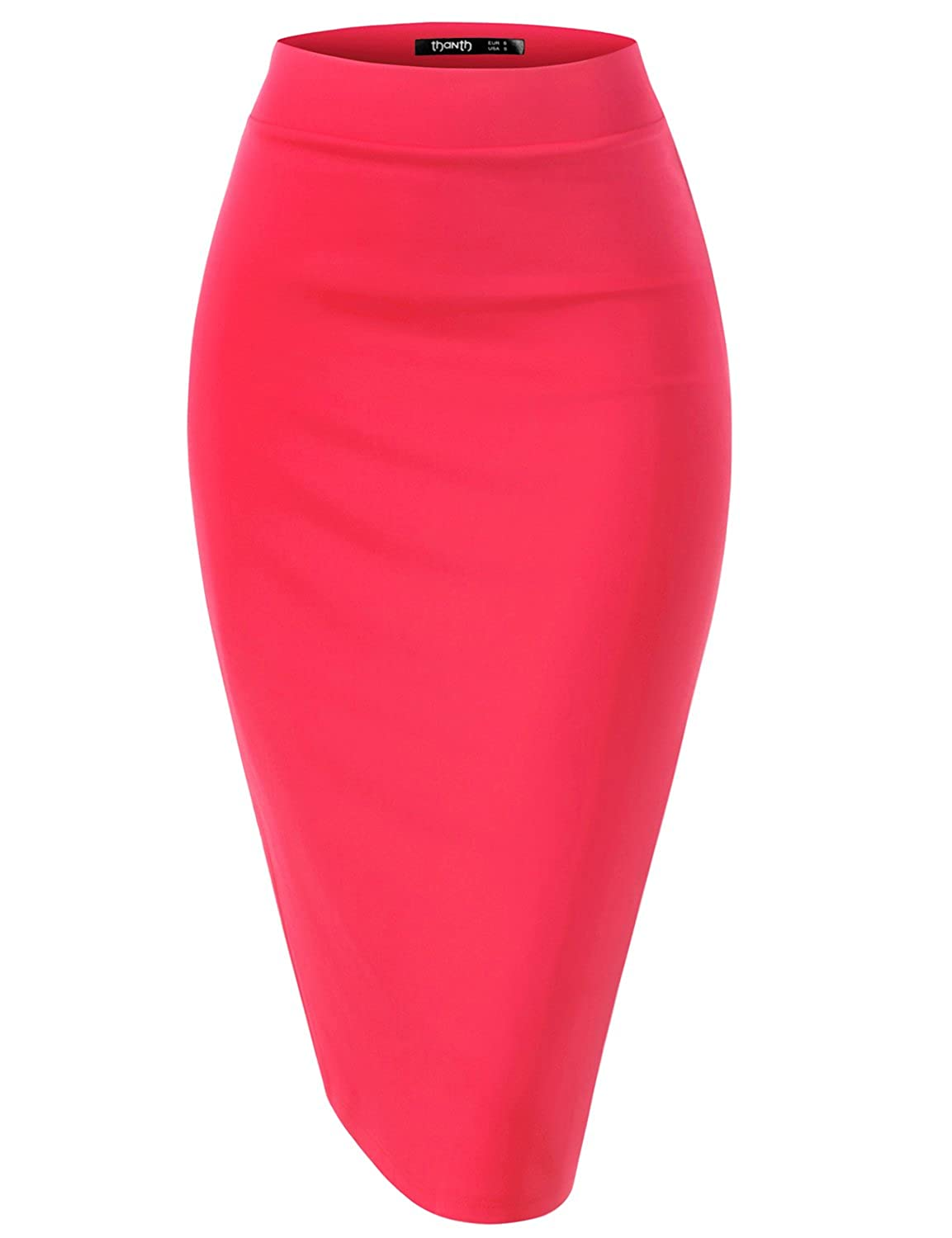 efb1562c978 Top2  TWINTH Pencil Skirts Plus Size Casual Skirt Elastic Waist Band Scuba  Streychy Solid Color
