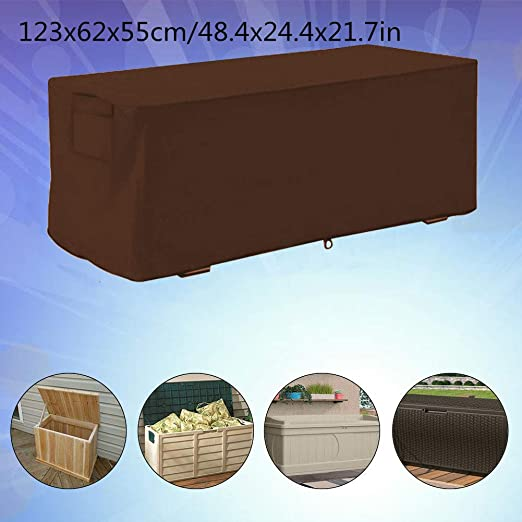 123x62x55cm Garden Waterproof UV Proof Deck Box Cover Storage Box Protective Cover Atyhao Deck Box Cover #1
