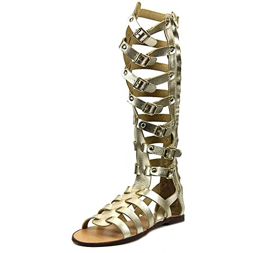 f0bbea20cb7 Madden Girl Penna Women US 5.5 Gold Gladiator Sandal: Buy Online at ...