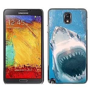 YOYO Slim PC / Aluminium Case Cover Armor Shell Portection //Cool Killer White Shark Attack //Samsung Note 3