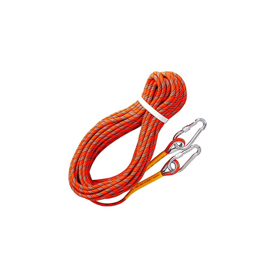 Tresbro Outdoor Rock Climbing Rope Stacic Fire Rope Escape Safety Survival Rope 10M(32ft) 20M(64ft) 30M (96ft) 50M(160ft) Climbing Rescue Hiking Rope