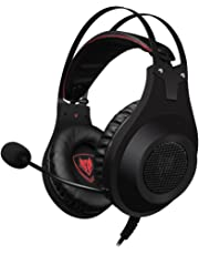 PS4 Gaming Headset, NUBWO N2 Stereo Wired PC Gaming Headset mit Rauschunterdrückungsmikrofon, Over-Ear Kopfhörer für PC, MAC, PlayStation 4, Xbox One, Android und iPhone-Black