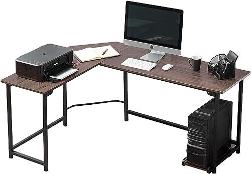 Best modern office desk: VECELO Modern L-Shaped Corner Computer Desk