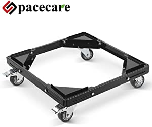 SPACECARE Telescopic Furniture Dolly Roller with Swivel Locking Casters, Steady Steel Frame, STFD009