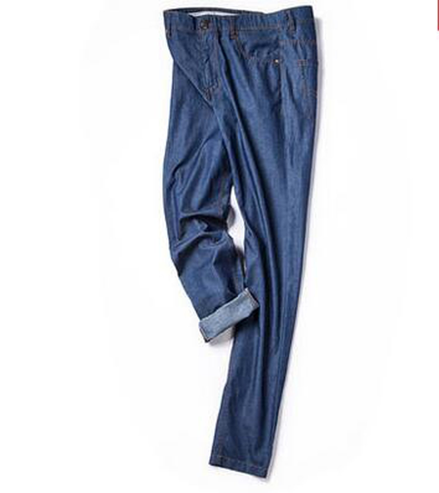 Perfues Men Jeans Fashion Casual Fine Fresh Breathable Cotton Skinny Jeans Pants,Blue,34