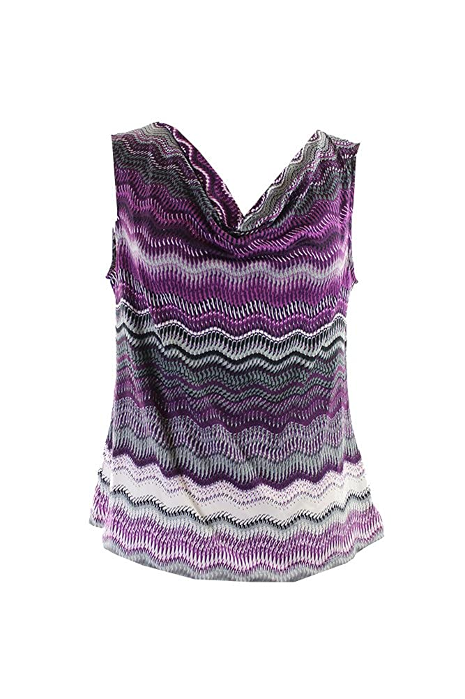Amazon.com  Tahari Women s Petite Sleeveless Draped Jersey Blouse ...