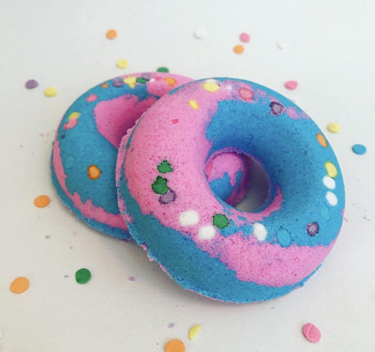 Cotton Candy Doughnut Bath Bomb ~ Donut Bath Bomb ~ Doughnut Bath Fizzy