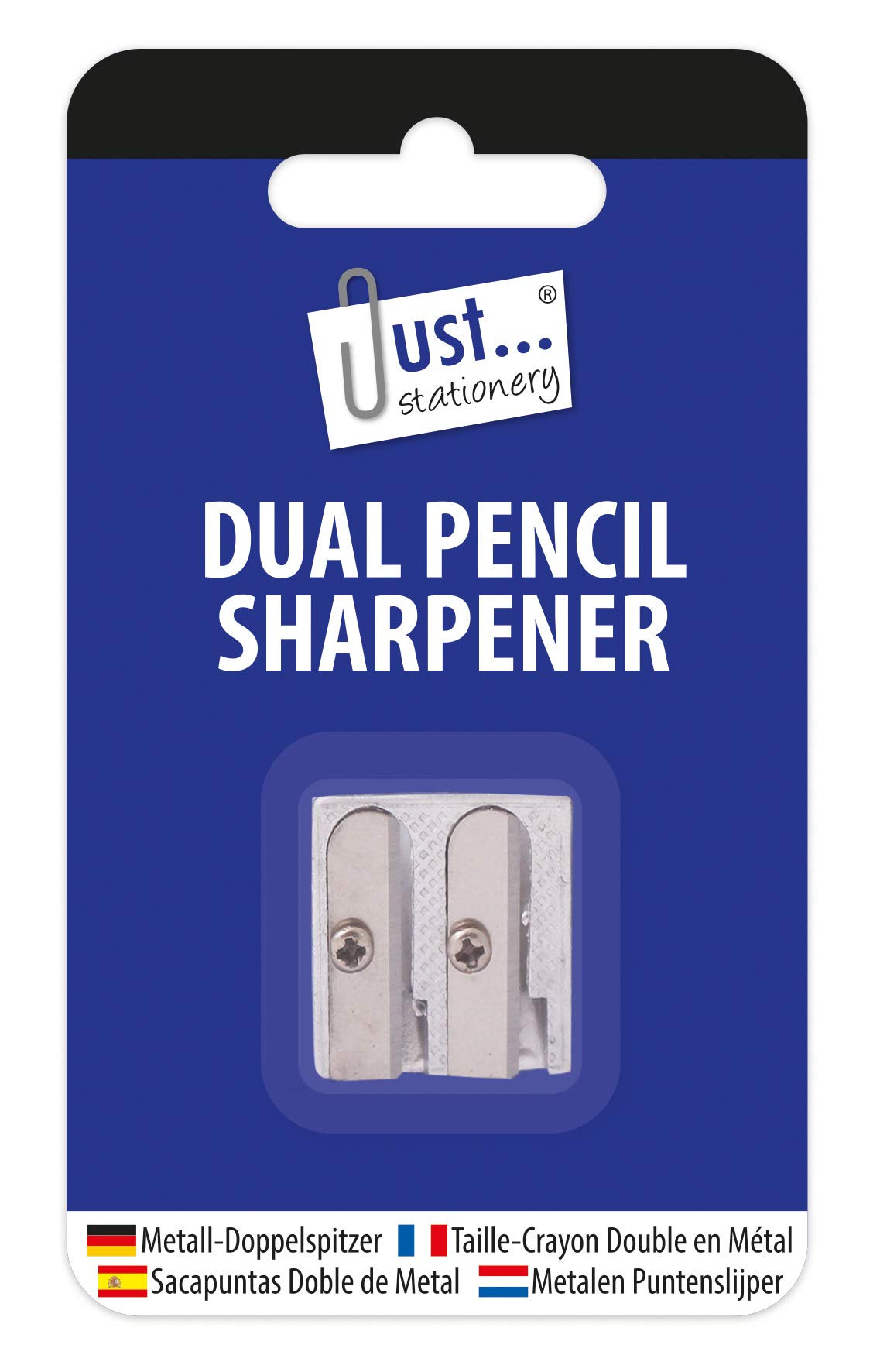Just Stationery Dual Hole Metal Pencil Sharpener