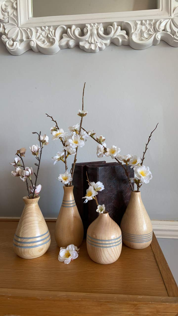 Grey Stripe Bud Vases