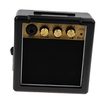 Sharplace Mini Portátil 5w 9v Guitarra Eléctrica Amplificadores Altavozces Piezas de Reemplazo