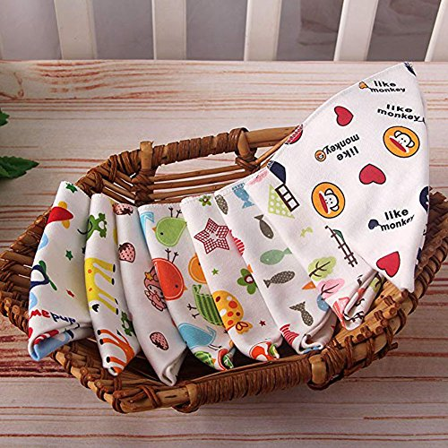 JULED 10-Pack Baby Bandana Drool Bibs for Drooling and Teething Boys Girls by JULED