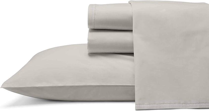 Ed Ellen Degeneres Love Solid Sheet Set Queen Oyster Home Kitchen Amazon Com