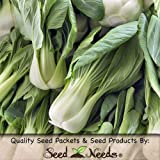300 Seeds, Pak Choi White Stem Cabbage (Brassica oleracea) Non-GMO Seeds By Seed Needs