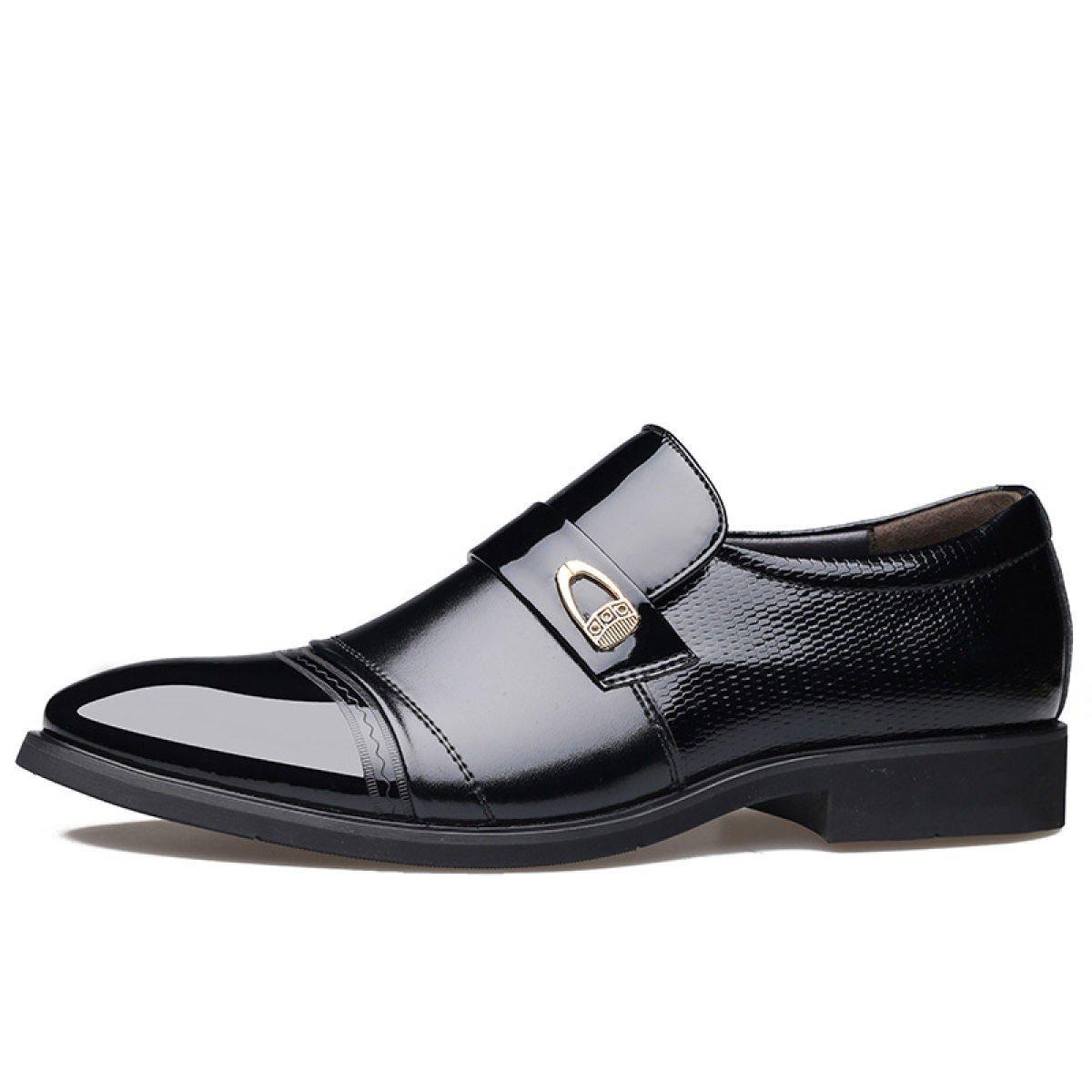 LEDLFIE Zapatos De Hombre Zapatos De Cuero De Vestir Hechos A Mano Zapatos De Hombre Zapatos Sueltos 41 EU|Black