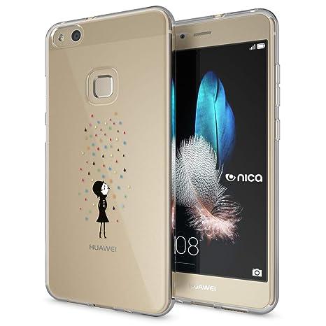 NALIA Funda Carcasa para Huawei P10 Lite, Protectora Movil TPU Silicona Ultra-Fina Gel Transparente Cubierta Goma Bumper Cover Case Cristal Clear para ...