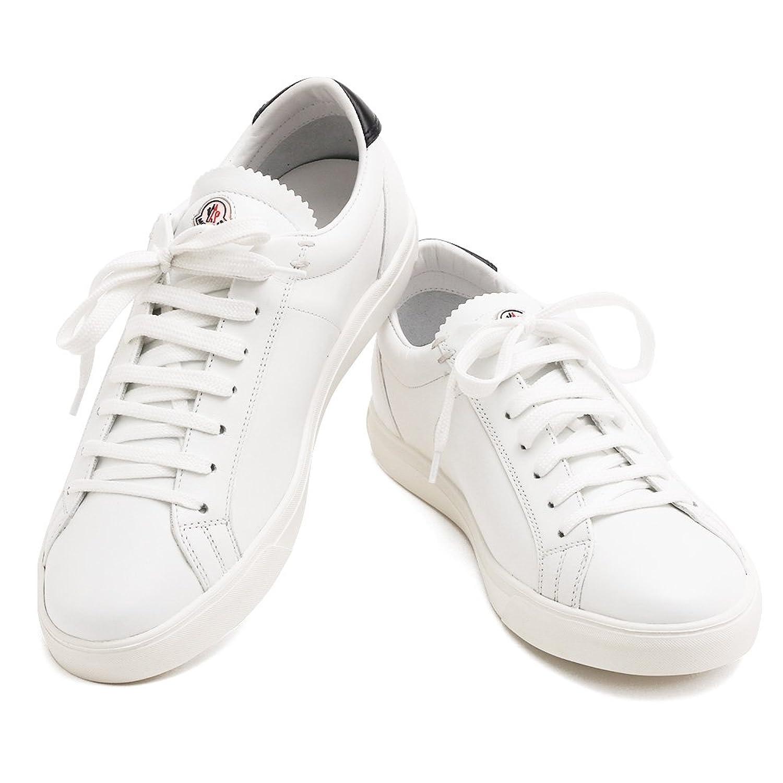 [モンクレール] MONCLER メンズ レザー スニーカー LA MONACO モナコ 10174 00 7892 003 WHITE ホワイト B07DNQRLYR