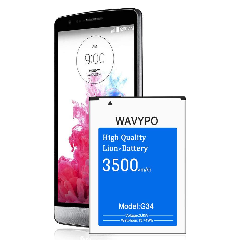 Bateria Celular Wavypo LG G3 3500mAh para LG G3 BL 53YH D852 D855 D850 AT&T D851 VS985 LS990 Sprint | G3 Spare 24
