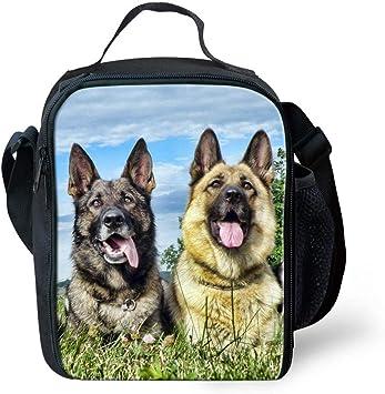 Shark - Juego de mochila para niños (3 piezas, incluye estuche térmico para el almuerzo) pastor alemán -: Amazon.es: Equipaje