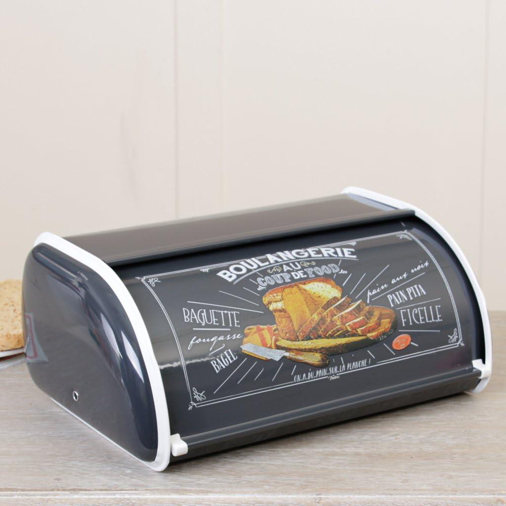 Dibor Vintage negro caja metálica para pan, un toque único rústico ...