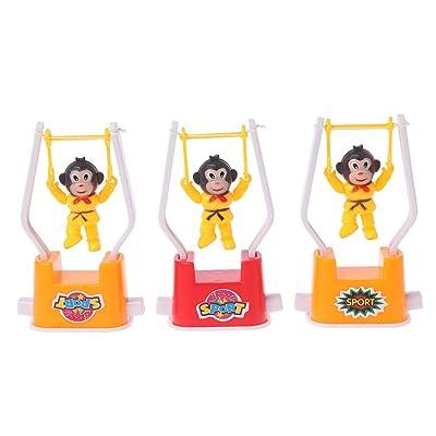 HOWWOH Monkey Toy, Novelty Monkey Animal Artistic Gymnastics Toy Cartoon Wind Up Toy Kids Toy - Color Randomly: Home & Kitchen