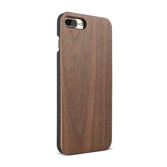 3b6a183f8d68e Amazon.com: Wood Cover for iPhone 7 iPhone X XR XSMAX Case Natural ...