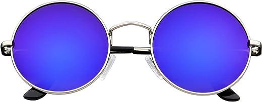 نظارات Emblem - نظارات شمسية مستوحاة من جون لينون نظارات شمسية دائرية هيبي شيدز ريترو ملونة