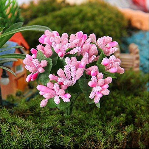 Micro Landscape Decorations Cloth Art Flower Garden DIY Decor(Random: Color)
