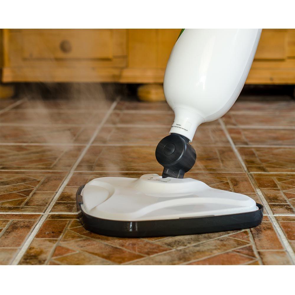 Grafner/® 4in1 Dampfbesen mit drehbaren Kopf 1300 Watt Dampfmop Dampf Mop Mob Dampfreiniger