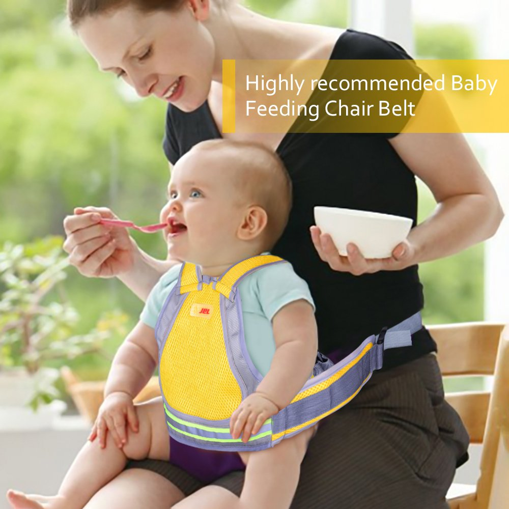Jolik Child Motorcycle Safety Harness with 4-in-1 Buckle, Breathable Material in Yellow by Jolik (Image #4)