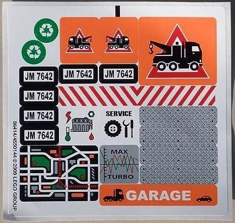 Amazon Com Lego Original Sticker For City Set 7642 Garage Toys