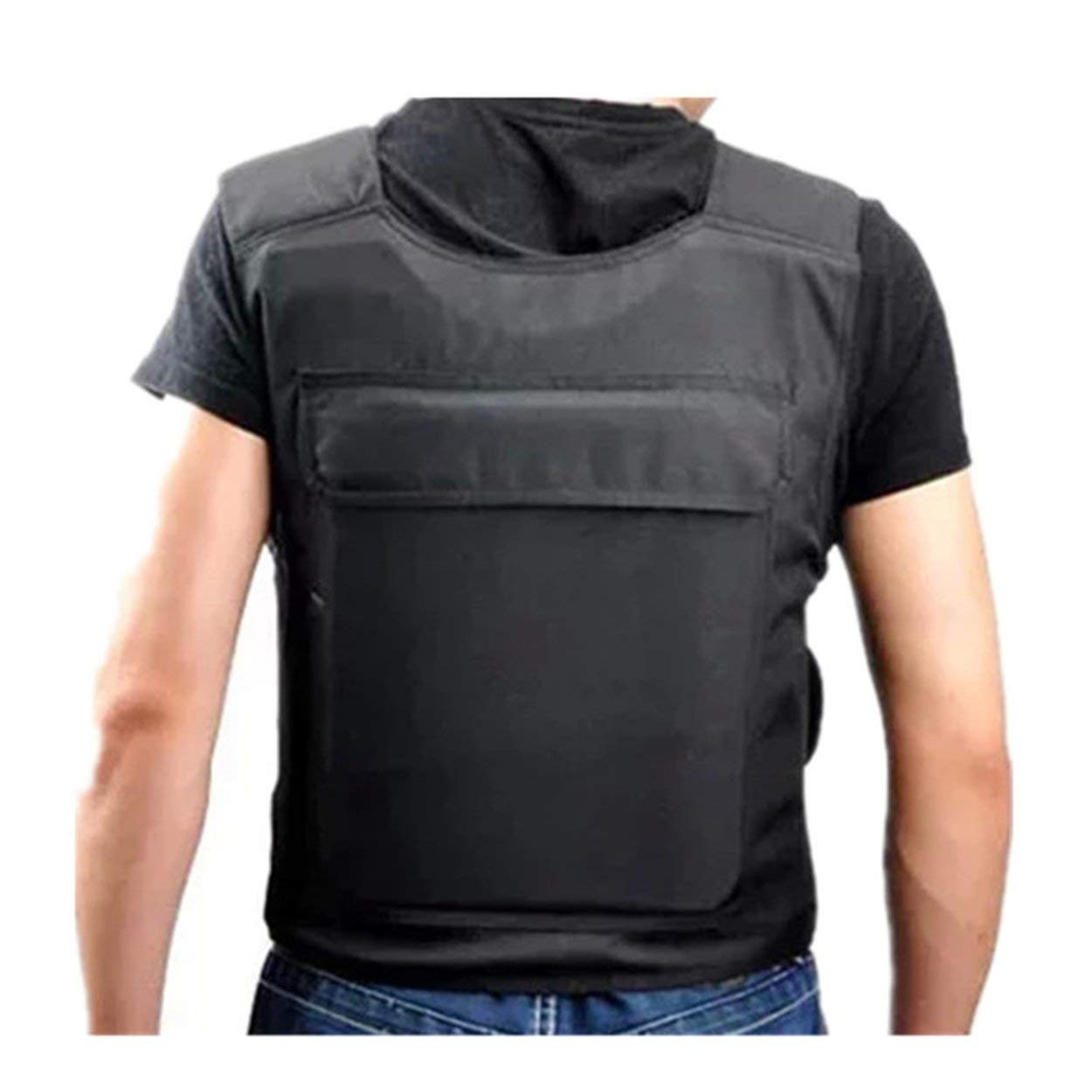 Lorenlli Portable Protective Vest with 15 Layers Soft Liner High Strength Cut-proof Coat Stab-resistant Clothing