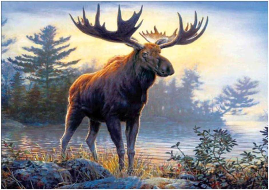Moose DIY Crystal Diamond Rhinestone Painting Cross Crafts Stitch Kit Home Decoration 40x30cm