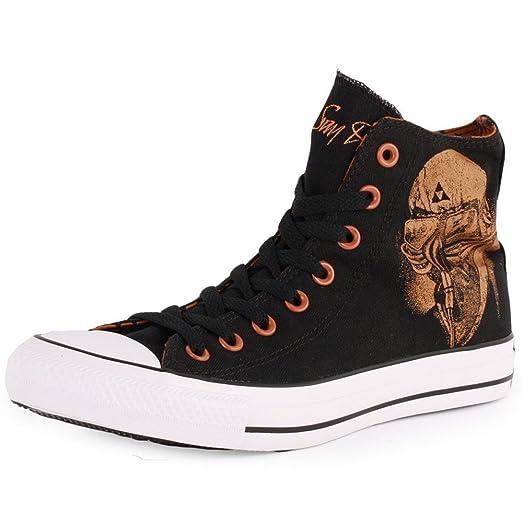 Unisex Chuck Taylor Black Sabbath Sneakers Never Say Die Black (Men 3/Women 5)