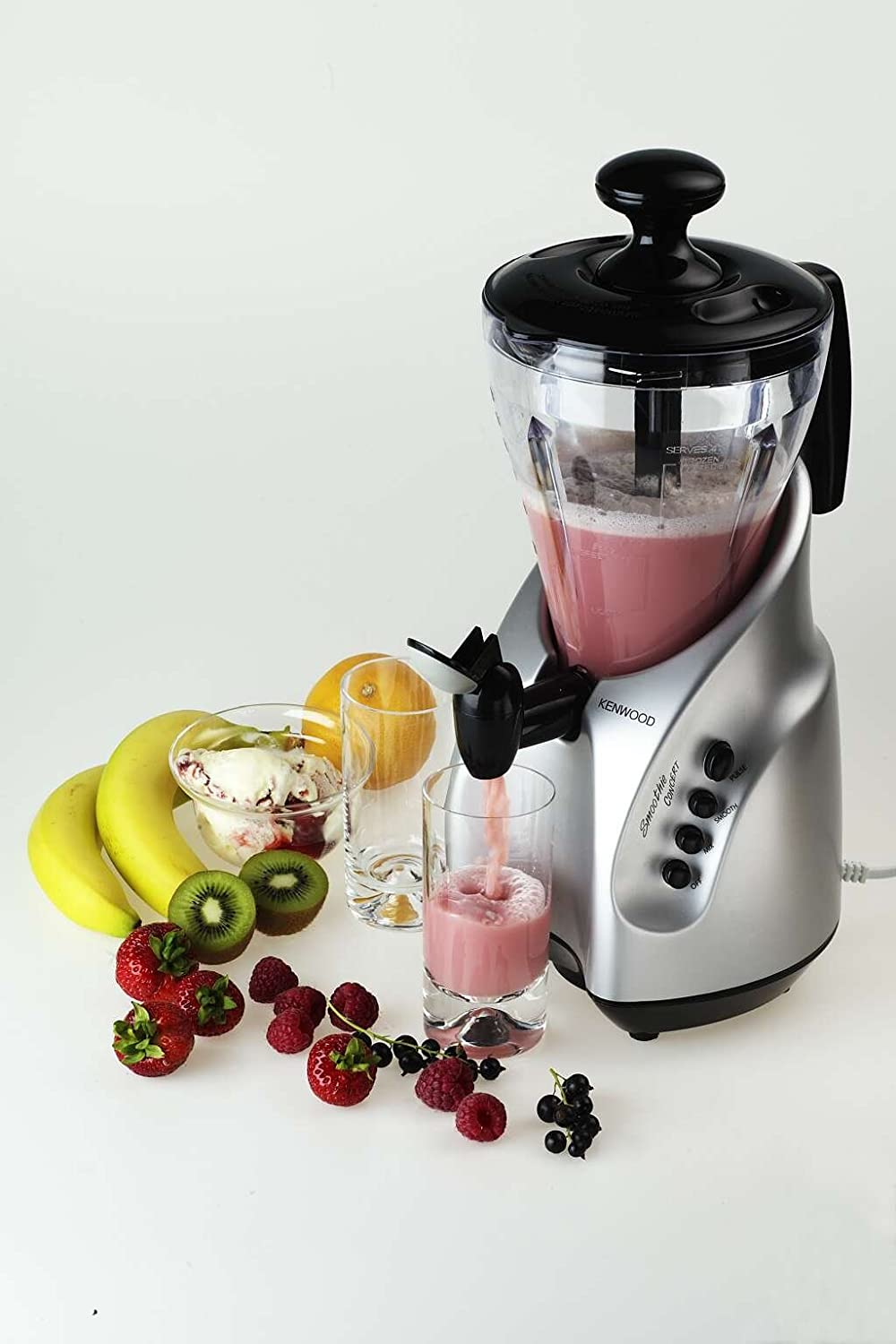 Kenwood Blender Smoothie Concert SB255 Mezclador de plástico, 500 W, color plata: Amazon.es: Hogar