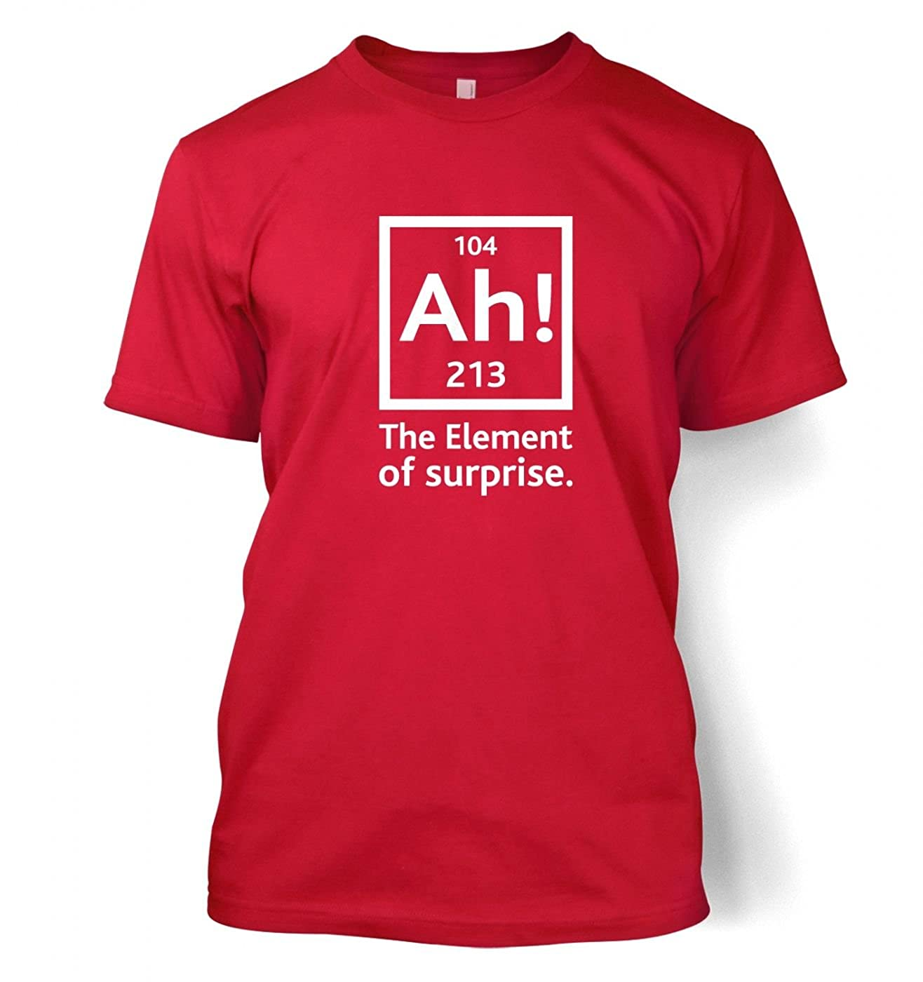 2633dd93a Amazon.com: Ah! The Element Of Surprise T-shirt - Science Geek Tshirt:  Clothing