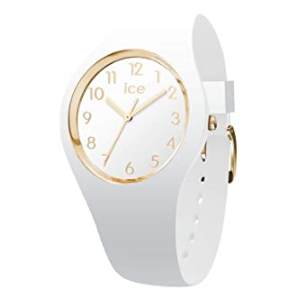 c03083bff654d Ice-Watch - Ice Glam White Gold Numbers - Montre Blanche pour Femme avec  Bracelet