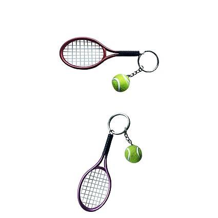 Sharplace 2X Llavero de Forma Raqueta de Tenis y Pelota ...